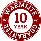 Covered by Warmlite's 10 year Conservatories guarantee